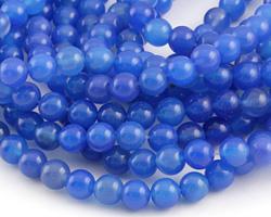 Sapphire Blue Agate Round 8mm