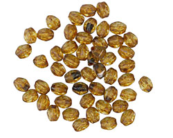 Czech Glass Crystal Picasso Pinch Bead 4x3mm