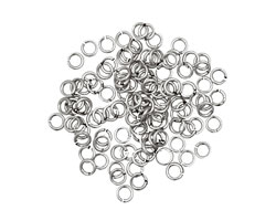 Artistic Wire Tarnish Resistant Silver Chain Maille Jump Ring 2.78mm, 20 gauge