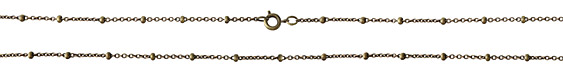 Antique Brass (plated) Finished Satellite Chain 18""