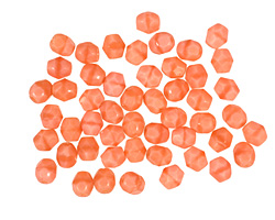 Czech Fire Polished Glass Pink Coral Round 4mm