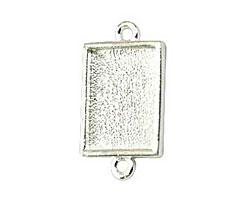 Nunn Design Sterling Silver (plated) Mini Rectangle Frame Link 22x12mm