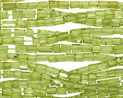Peridot Faceted Tube 4-6x3-4mm