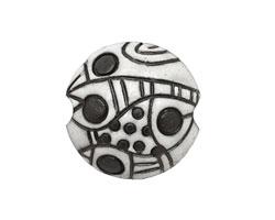 Golem Studio Dark Abstract Carved Ceramic Lentil 23mm