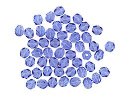 Czech Fire Polished Glass Sapphire Round 4mm