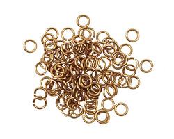 Artistic Wire Non-Tarnish Brass Chain Maille Jump Ring 3.57mm, 20 gauge