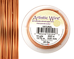 Artistic Wire Natural 20 gauge, 15 yards