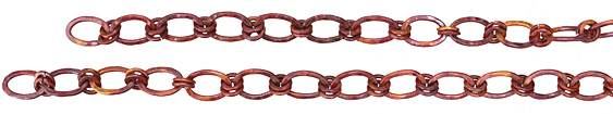 Patricia Healey Copper Small Oval Double Link Chain 18x12mm, 20""