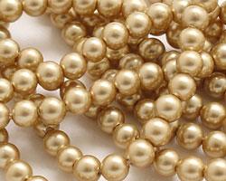 Hamilton Gold Shell Pearl Round 4mm