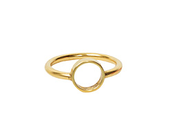 Nunn Design Antique Gold (plated) Open Frame Itsy Circle Ring Size 6