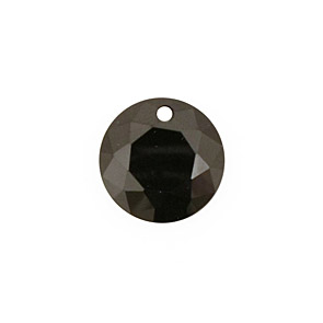 Onyx Faceted Coin 16mm