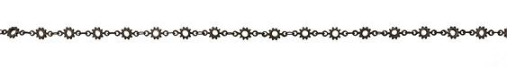 Matte Gunmetal (plated) Cog Chain