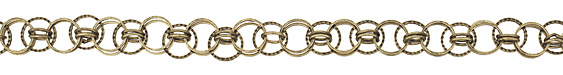 Antique Brass (plated) Medley Ring Chain