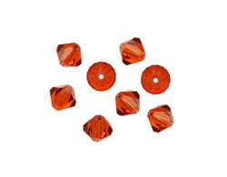 Swarovski Indian Red Faceted Bicone 6mm (5301)
