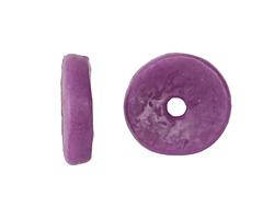 African Sand Cast Powder Glass (Krobo) Orchid Disc Bead 18-19x5mm