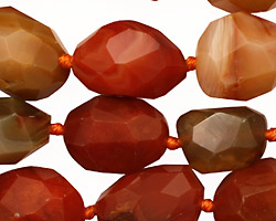 Carnelian (natural) Faceted Nugget 13-21x10-14mm