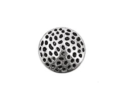 Pewter Textured Disk 17mm