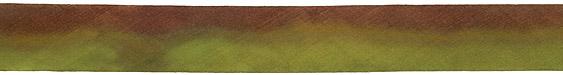 "Chocolate Tree Frog Hand Dyed 100% Silk Ribbon 1"""