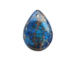 Midnight Blue Impression Jasper Teardrop 6x25mm