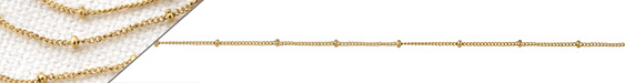 Gold (plated) Stainless Steel Satellite Chain