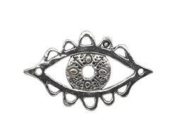 Green Girl Pewter Openwork Protection Eye Focal Link 44x28mm