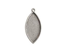 Nunn Design Antique Silver (plated) Navette Bezel Pendant 20x44mm