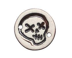 Earthenwood Studio Ceramic Oxidation Round Skull Link 26mm