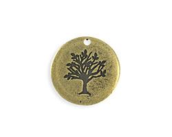 Vintaj Antique Brass (plated) Family Tree Blank 25mm