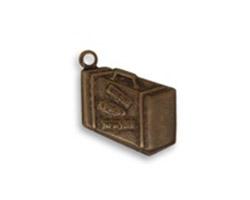 Vintaj Natural Brass Journey Case Charm 14x18mm
