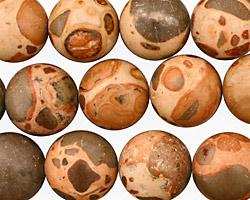 African Brown Rhyolite Round 14mm