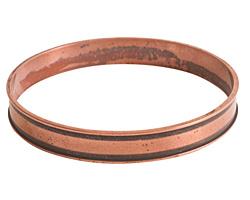 Nunn Design Antique Copper (plated) Channel Bangle Bracelet 70mm