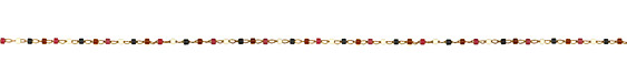 Cardinal Delicate Brass Seed Bead Chain