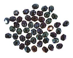 Czech Fire Polished Glass Iris Blue Round 4mm