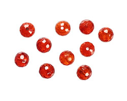 Poppy Faceted Round 6mm