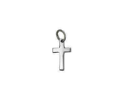 Nina Designs Sterling Silver Tiny Cross Charm 9x14mm