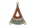 Zola Elements Antique Gold (plated) Fairy Garden Flared Triangle Chandelier 25x34mm