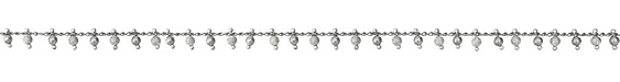 Zola Elements Stardust & Smooth Bead Drops Imitation Rhodium (plated) Chain