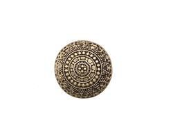 Zola Elements Antique Brass (plated) Sundial Disc 7mm Flat Cord Slide 18mm