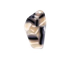 Zola Elements Black Pearl Acetate Freeform Cut Focal 16x28mm