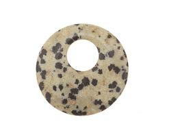 Dalmatian Jasper Off Center Donut 25mm