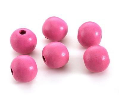Pink Wood Round 20mm
