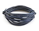 Natural Blue Round Leather Cord 2mm, 32 feet