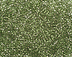 TOHO Olivine (with Silver Lining) Round 15/0 Seed Bead