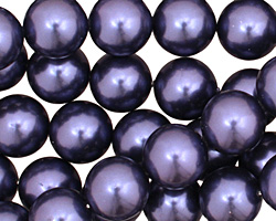 Navy Shell Pearl Round 12mm