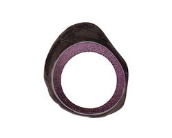 Tagua Nut Grape Open Slice (side drilled) 33-45x24-36mm