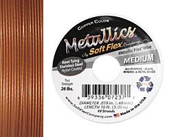 "Soft Flex Copper .019"" (Medium) 49 Strand Wire 10ft."