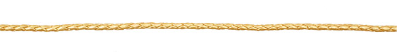 Gold (metallic) Braided Leather Bolo Cord 3mm