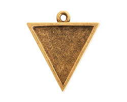 Nunn Design Antique Gold (plated) Large Triangle Pendant 29x26mm