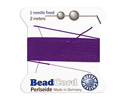 Amethyst Griffin Nylon Beading Cord Size 4, 2 meters