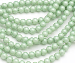 Mint (matte) Shell Pearl Round 4mm